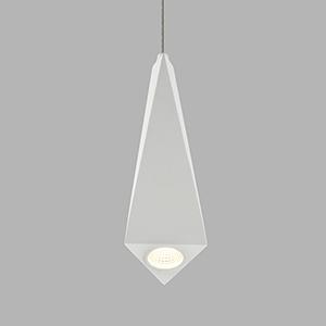 Polaris White Five-Inch LED Mini Pendant