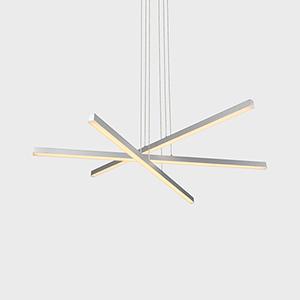 Sirius Silver Three-Light LED Pendant
