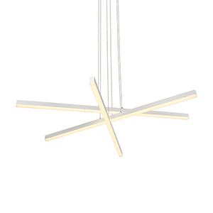 Sirius White Three-Light LED Pendant