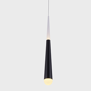 Procyon Black Seven-Inch LED Mini Pendant