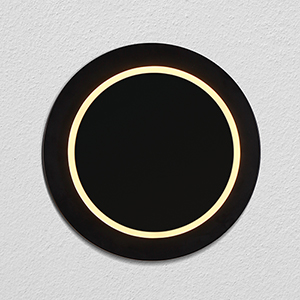 Eclipse Black 10-Inch Rotational LED ADA Wall Sconce