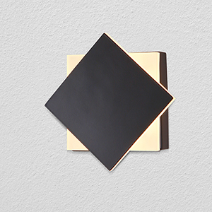 Eclipse Black Two-Light LED ADA Wall Sconce