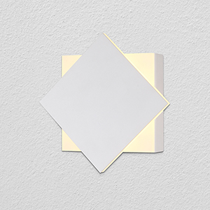 Eclipse White Two-Light LED Wall Sconce