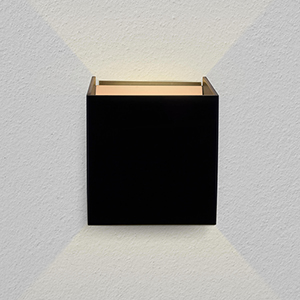 Atlas Black LED Wall Sconce