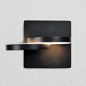 Eclipse Black LED Wall Sconce
