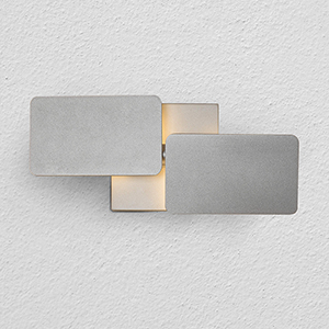 Eclipse Silver Two-Light LED Wall Sconce