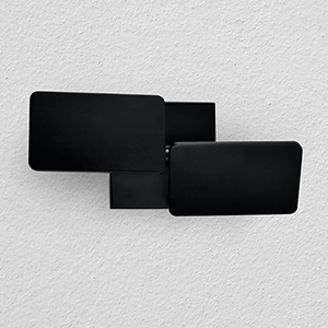 Eclipse Black Two-Light LED Wall Sconce