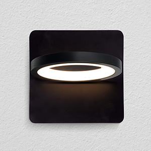 Tania Black Six-Inch LED Wall Sconce