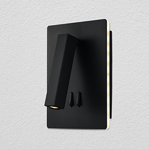 Atria Black Six-Inch LED Wall Sconce