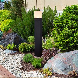 Matt Black LED 32-Inch 9Watt 12V LED Outdoor Bollards