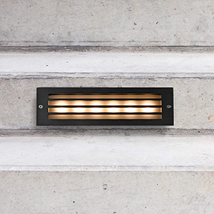 Matt Black 6Watt 12V LED Outdoor Step Light