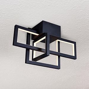 Radium Black 10-Inch LED Semi Flush Mount