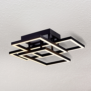 Radium Black 28-Inch LED Semi Flush Mount