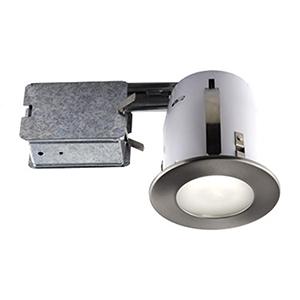 Serie 300 Brushed Chrome One-Light Recessed Halogen Lighting Kit