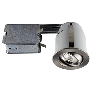Serie 303 Brushed Chrome One-Light Recessed Halogen Lighting Kit, Set of 10