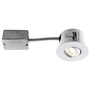 Flex Matte White Five-Inch LED Recessed Lighting Kit