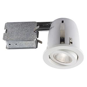 Serie 500 White One-Light Recessed Halogen Lighting Kit, Set of 10