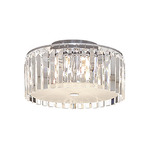 Glam Chrome Five-Light Flush Mount