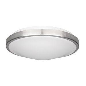 Solas Brushed Chrome LED Flush Mount