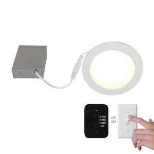 SLIM Matte White One Light Integrated LED Recessed Fixture Kit