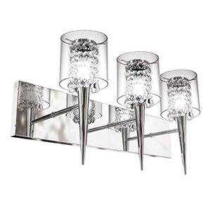 Glam Chrome Three-Light Wall Sconce