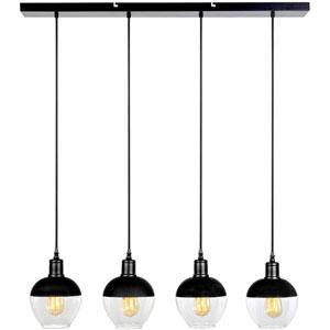 VESTA Black Vintage Four-Strand LED Pendant