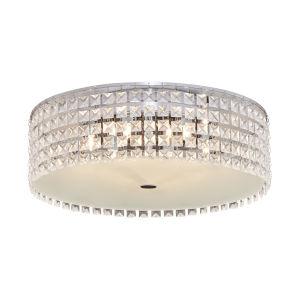 GLAM Glass Flush Mount Six Light LED Ceiling Light