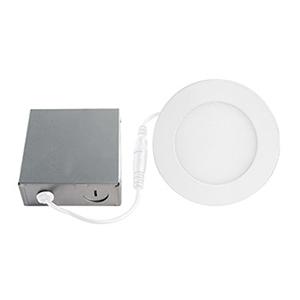 Slim Disk Matte White LED Recessed Lighting Kit, Set of Four