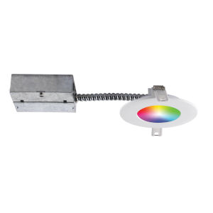 Matte White Wi-Fi RGB LED Recessed Fixture Kit