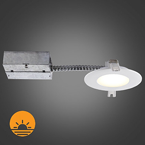 Slim Brushed Chrome Integrated LED Recessed Lighting Kit