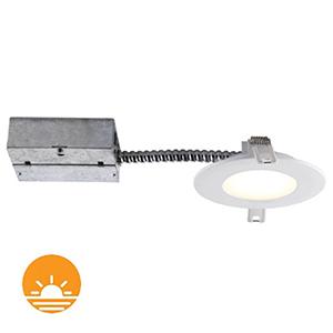 Slim Matte White Dimming LED Recessed Lighting Kit