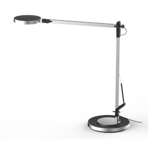 Silver One Light Integrated LED Table Lamp