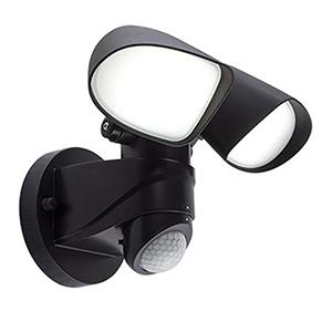 Zone Black Plastic LED Motion Sensor Security Light
