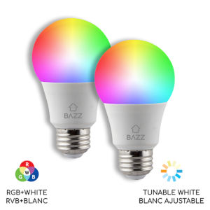 WhiteWi-Fi RGB LED Bulb, Pack of 2