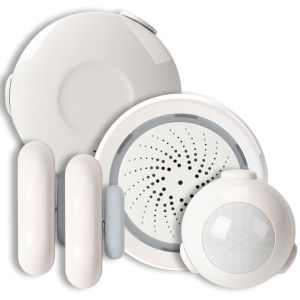 White Smart Wi-Fi Condo Alarm Kit