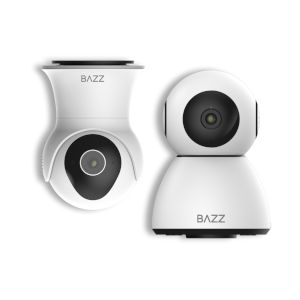 Black and White Smart Wi-Fi Indoor and Outdoor Camera Kit