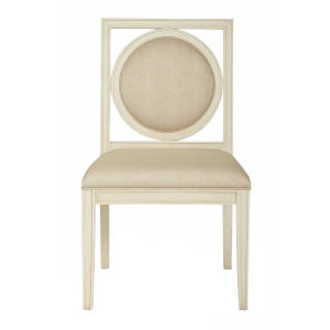 Salon Alabaster Wood and Fabric 23-Inch Dining Chair