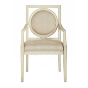 Salon Alabaster Wood and Fabric 24-Inch Dining Chair