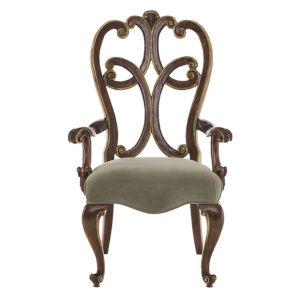 Villa Medici Brown Dining Arm Chair