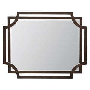 Jet Set Caviar Wood and Mirrored Glass Mirror