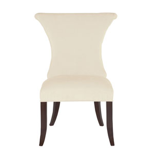 Jet Set Caviar Wood and Fabric 23-Inch Dining Chair