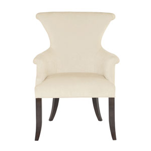 Jet Set Caviar Wood and Fabric 27-Inch Dining Chair