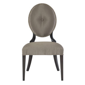 Jet Set Caviar Wood and Fabric 22-Inch Dining Chair