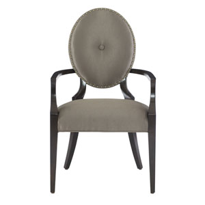 Jet Set Caviar Wood and Fabric 24-Inch Dining Chair