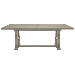 Marquesa Gray Cashmere White Oak Veneers and Walnut Veneers 88-Inch Dining Table