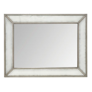 Marquesa Gray Cashmere Wood and Mirrored Glass 47-Inch Mirror