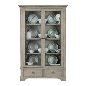 Marquesa Gray Cashmere White Oak Veneers, Glass and Metal Curio