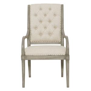 Marquesa Gray Cashmere 24-Inch Arm Chair