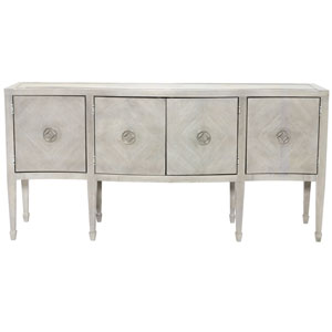 Criteria Heather Gray Ash Solids, Ash Veneers and Stainless Steel Sideboard