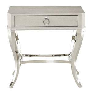 Criteria Heather Gray Ash Solids, Ash Veneers and Solid and Tubular Steel Nightstand